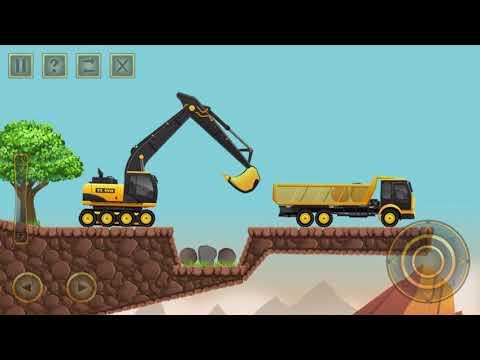 Let's Play Construction city 2 - garbage truck, dump truck, excavator