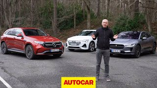 Audi e-tron Sportback vs Jaguar i-Pace vs Mercedes EQC review | Luxury SUVs head-to-head | Autocar by Autocar
