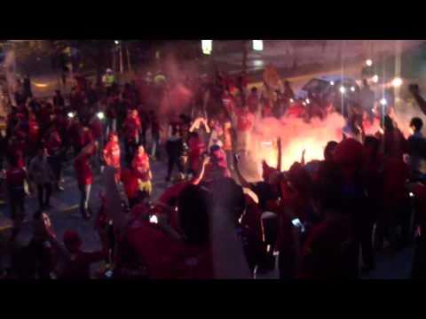 """la banda del ROJO clasico 287"" Barra: La Banda del Rojo • Club: Municipal"
