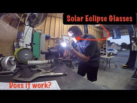 Can you WELD with SOLAR ECLIPSE GLASSES?????