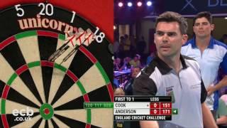 Alastair Cook v James Anderson - Darts Rematch, Winter Gardens
