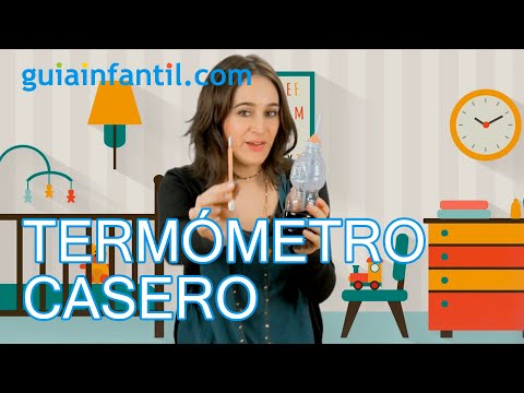 Cómo hacer un termómetro casero con los niños | Ciencia divertida