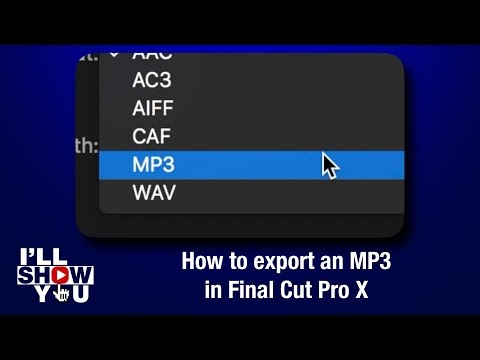 How to export an MP3 in Final Cut Pro X