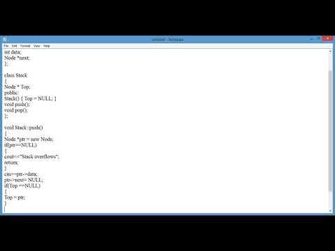 Linked List Based Implementation of Stack