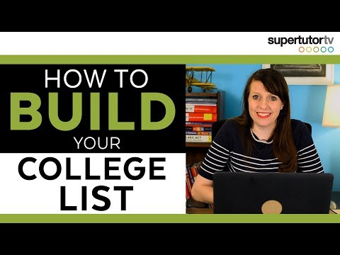 How to Build Your College List