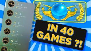 Global Elite in 40 games?!