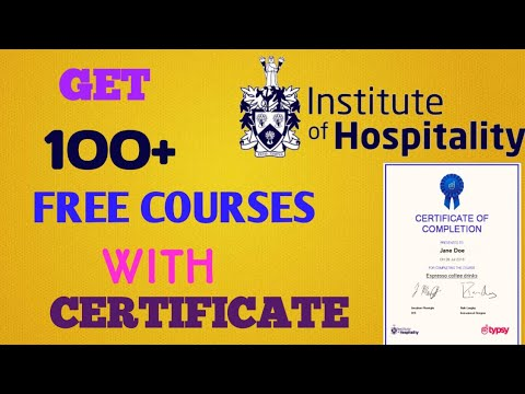 100+ Free Courses|Institute of hospitality|Tipsy|Free Certificate ...