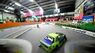 Inductrix FPV: Chasing some rc drift cars (practice)