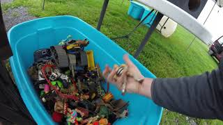 Epic Rainy Day Flea Market Finds #3 A Huge Tote Full Of Vintage Toys!