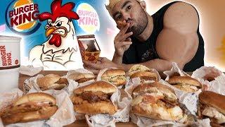 Burger King Full Chicken Menu Feast!