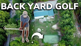 Playing Our Backyard Golf Course Plus Wedge And Driving Practice Session | Bryan Bros Golf