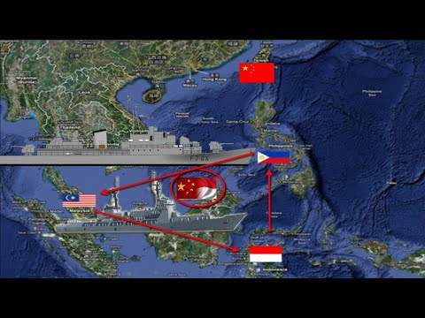 Between Indonesia, The Philippines, Malaysia & China in The South China Sea!