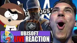 urla e applausi!   live reactions at e3 2016 ubisoft conf  watch dogs 2  for honor  south park