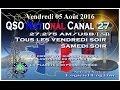 Vendredi 05 Août 2016 QSO National du canal 27