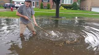 Draining A Flooded Street
