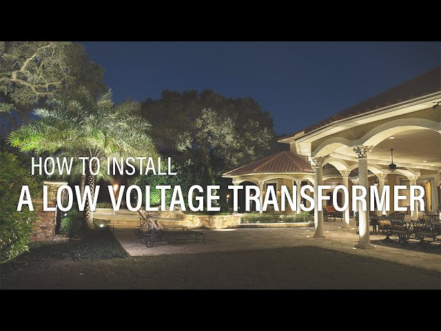Video Landscape Lighting Transformer Installation Volt