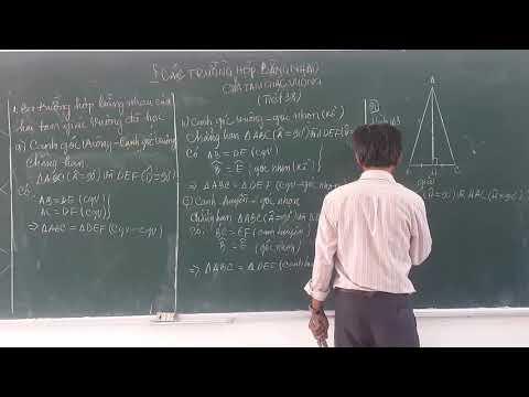 Bài 8: Các trường hợp bằng nhau của tam giác vuông