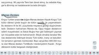 Eğitim Vadisi AYT Edebiyat 31.Föy Destan ve Efsane Konu Anlatım Videoları