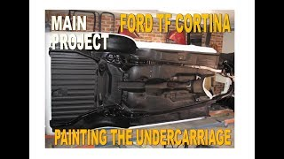 Tough Garage - Main Project Ford TF Cortina EP7 - Painting Undercarriage