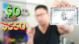 Amex Platinum for FREE?! How to Waive the Annual Fee