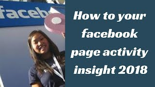 Best tip for Facebook Page analytics 2018