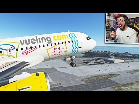 PILOTANDO un AIRBUS A320 con JOYSTICK en FLIGHT SIMULATOR 2020 😱