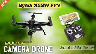 SYMA X5SW FPV CAMERA DRONE , UNBOXING & FULL REVIEW || हिंदी में ||