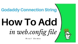 Sql Server Connection String In web.config - Godaddy myLittleAdmin