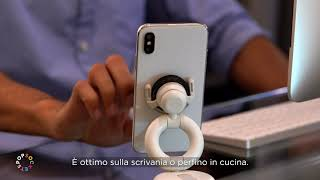 PopSockets PopMount Car Dash & Windshield (Italiano)