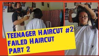 Teenager Haircut #2  Failed Haircut Part 2 || Girl Haircut At Barbershop