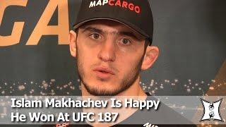 UFC 187: Islam Makhachev On Submission Win Over Kuntz, Nurmagomedov's Advice