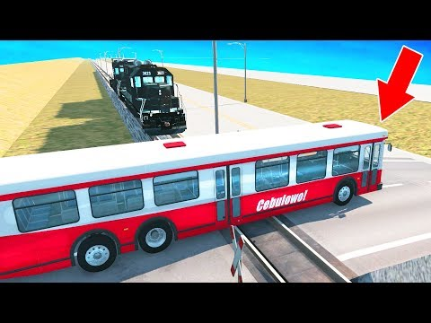 BeamNG Drive - Incredible Train accidents #2 (Railroad crashes) Crash Therapy