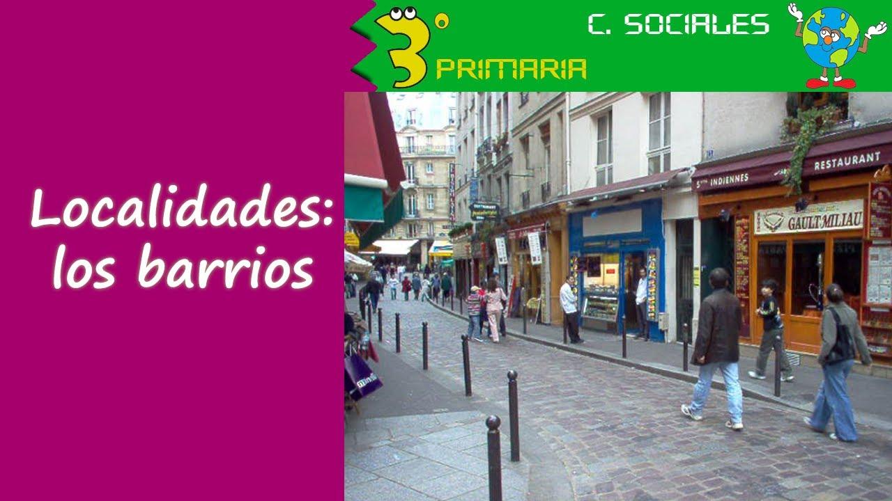 Ciencias Sociales. 3º Primaria. Tema 2. La localidad crece. Los barrios