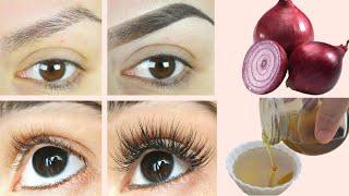 ONION-OIL To Grow LONG EYELASHES & EYEBROWS -  Eyebrows & Eyelash Growth Oil