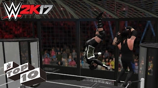 WWE 2K17: Top 10 Elimination Chamber Eliminations!