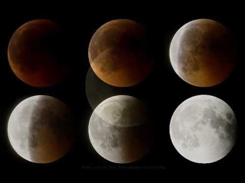 Recopilatorio de imágenes del eclipse de Luna
