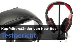 Extrem preiswerter Kopfhörerhalter und Headsetständer von New Bee - Testbericht