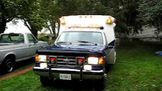 1987 Ford F350 Braun Diesel Ambulance Siren/PA Speaker Demo