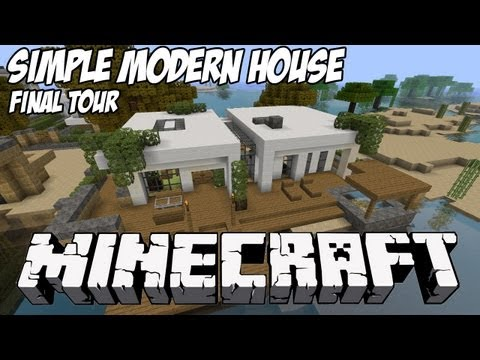 Simple Modern House Tutorial 1 Beach Town Project Minecraft Project