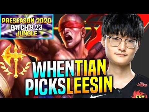 IS THIS LEE SIN the REAL TIAN?! - FPX Tian Plays Lee Sin vs Olaf Jungle! | Preaseason 2020 [9.23]