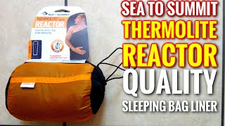 Sea to Summit Reactor Sleeping Bag Liner (First Look Review)
