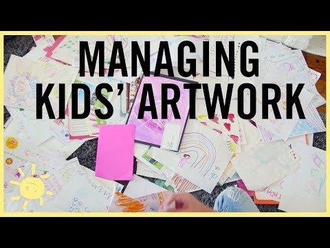 ORGANIZE | Managing Kids Artwork!! (Fool Proof System)