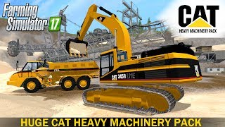 Farming Simulator 17 HUGE CAT HEAVY MACHINERY PACK