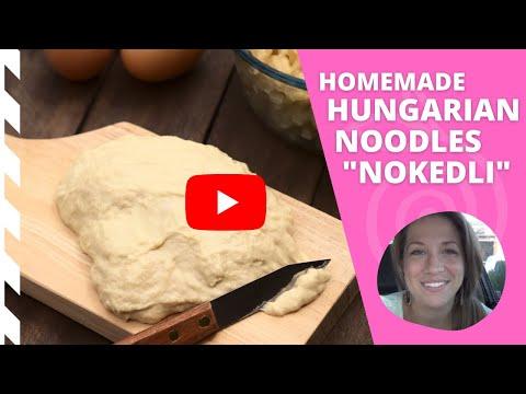 Hungarian Nokedli Recipe – Homemade Hungarian Noodles Recipe