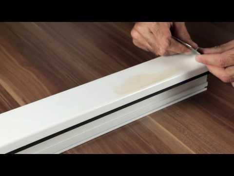 Feiner Kratzer im Kunststoff-Fenster beseitigen