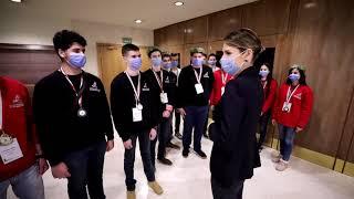 السيدة أسماء الأسد تلتقي المشاركين في الأولمبياد العلمي 2021