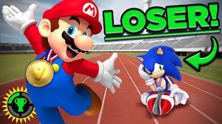 Game Theory: How Mario BEATS Sonic at The Olympics!