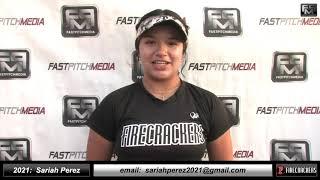2021 Sariah Perez Athletic, Power Hitting Third Base Softball Skills Video Norcal Firecrackers Gold