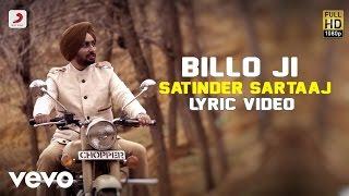 Satinder Sartaaj - Billo Ji | Rangrez | Lyric Video - YouTube