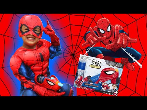 Marvels spiderman web blaster toy with pretend play
